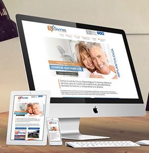 Página web Clinicas Odontológicas Tu Sonrisa