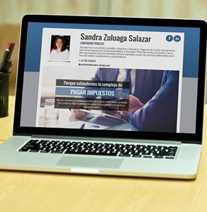 Sitio Web Sandra Zuluaga, Contadora Pública