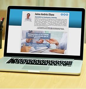 Sitio web Jaime Andrés Olano, experto en Factoring